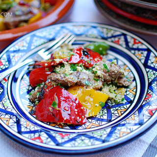 Grillowane warzywa z jagnięciną