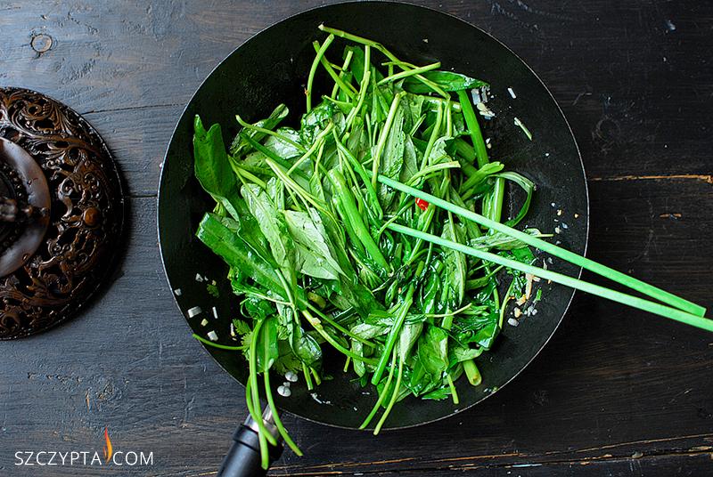 szpinak-wok