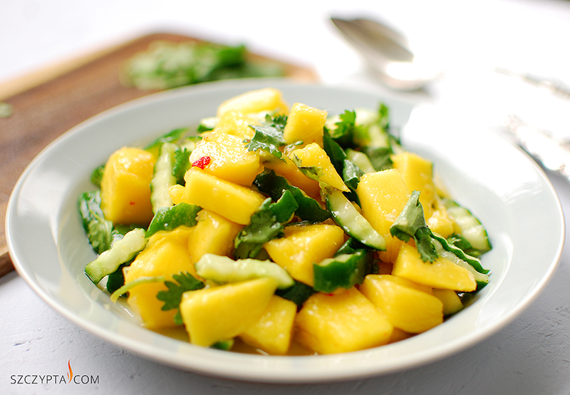 salatka mango ogorek