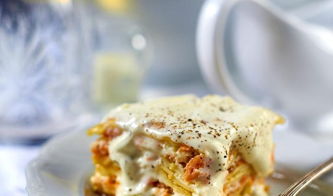 Lasagne z łososiem