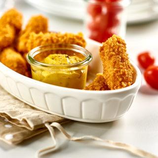 Nuggetsy z kurczaka z dipem musztardowym